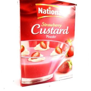 National Strawberry Custard Powder -300G