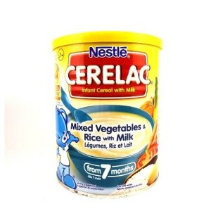 Nestlé Cerelac Mixed Vegetables & Rice With Milk-400 grams