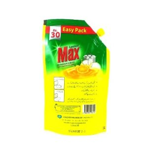 Lemon Max 3X Dishwash Liquid Pouch-125ml