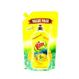 Vim Lemon Dishwash Active Gel Pouch-140ml
